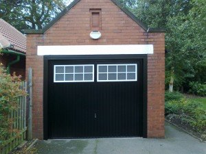 Hormann Ilkley Up and Over in Black By ABi Garage Doors