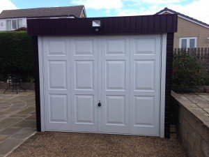 Hormann Up and Over Georgian Design in White By ABi Garage Doors