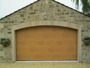 Hormann M-Ribbed Sectional in Decograin Light Oak By ABi Garage Doors