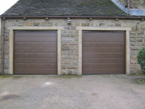 Hormann M-Ribbed Sectional in Terra Brown By ABi Garage Doors