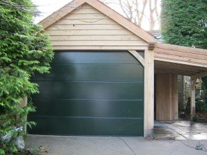 Hormann L-Ribbed Sectional in Moss Green By ABi Garage Doors