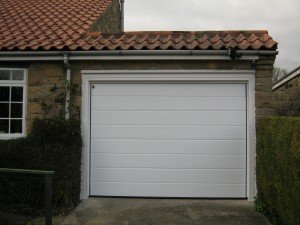 Hormann M-Ribbed Sectional in White By ABi Garage Doors