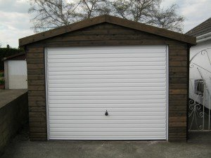 Hormann Horizontal Up and Over in White with Timber Front By ABi Garage Doors