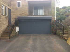 Hormann L-Ribbed Sectional in Anthracite Grey By ABi Garage Doors