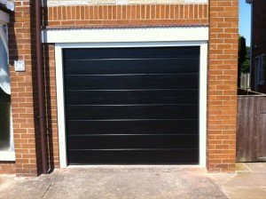 Hormann M-Ribbed Sectional in Black By ABi Garage Doors