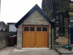 Hormann Up and Over Traditional Boarded Bespoke Design Cedar Timber Door By ABi Garage Doors