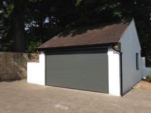 Hormann L-Ribbed Sectional in Traffic Grey 7043 By ABi Garage Doors