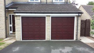 Hormann S-Panel Sectional Garage Doors in Rosewood By ABi