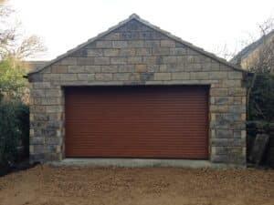 Hormann Insulated Roller Garage in Decograin Golden Oak By ABi