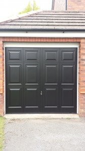 Hormann Up and Over Georgian Garage Door in Black By ABi
