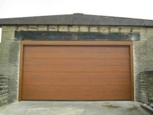 Hormann M Rib Sectional Garage Door in Decograin Golden Oak By ABi