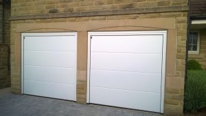 Hormann L Ribbed Sectional Garage Doors in White By ABi