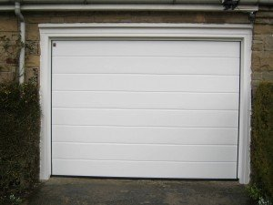 Hormann M Ribbed Insulated Sectional Garage Door in White By ABi