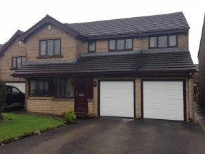 Hormann M Rib Sectional Garage Doors in White By ABi