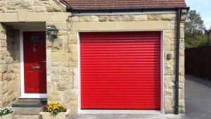 Hormann RollMatic Roller Garage Door in Ruby Red By ABi