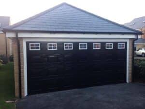 Hormann Sectional Garage Door in Black By ABi