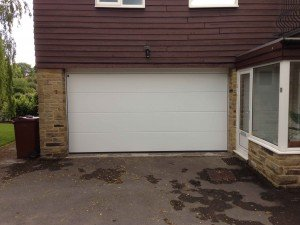 Hormann L Rib Sectional Garage Door in White By ABi