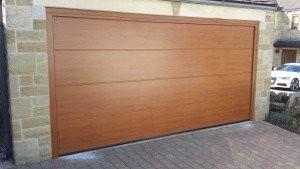 Hormann Sectional Garage Door in Golden Oak By ABi