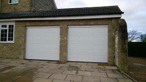 Hormann S-Panel Insulated Sectional Garage Door in White By ABi