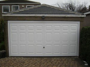Hormann Double Up and Over Georgian Design in White By ABi Garage Doors