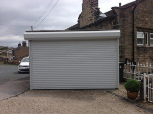 Hormann External RollMatic Made to Measure Insulated Roller Door in Light Grey By ABi Garage Doors