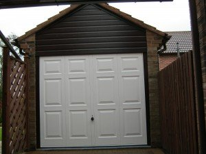 Hormann Up and Over Georgian Style in White By ABi Garage Doors