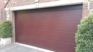 Hormann L Ribbed Decograin Rosewood Sectional Garage Door By ABi