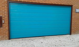 Hormann M Ribbed Sectional Garage Door RAL 5021 By ABi