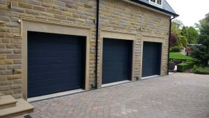 Hormann M Ribbed Sectional Garage Doors in Anthracite Grey By ABi