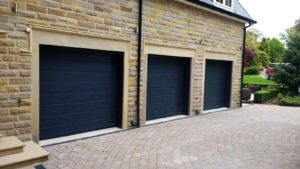 Hormann M Ribbed Sectional Garage Doors Anthracite Grey By ABi