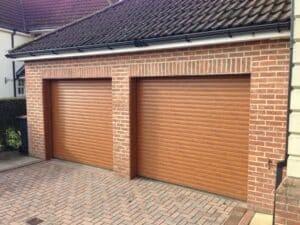 Hormann RollMatic Made to Measure Insulated Roller Door in Golden Oak By ABi Garage Doors