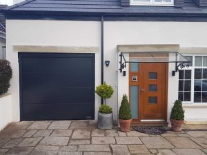 Hormann L Ribbed Insulated Sectional Door in Anthracite Grey By ABi
