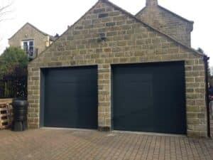 Hormann LPU40 Insulated Sectional Garage Doors in Silk Grain Antrhacite Grey By ABi