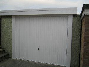 Hormann Vertical Up and Over in White By ABi Garage Doors