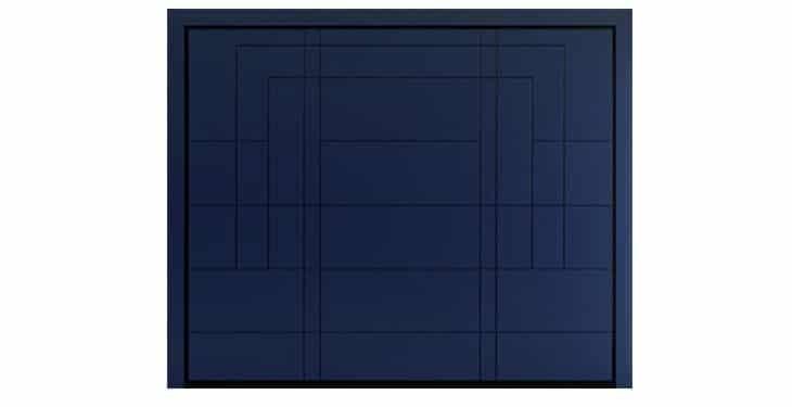 ARA Design in Laquered Okoumé RAL 5003 Sappire Blue