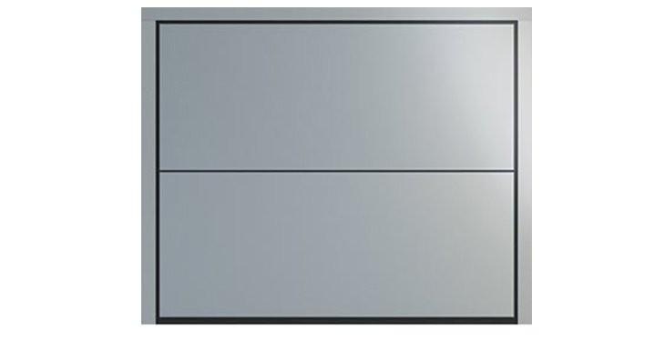 DUO Design in Laquered Okoumé RAL 9006 White Aluminium