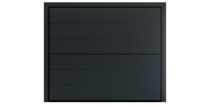 SIX Design in Embossed metal coating RAL 7016 Anthracite Grey