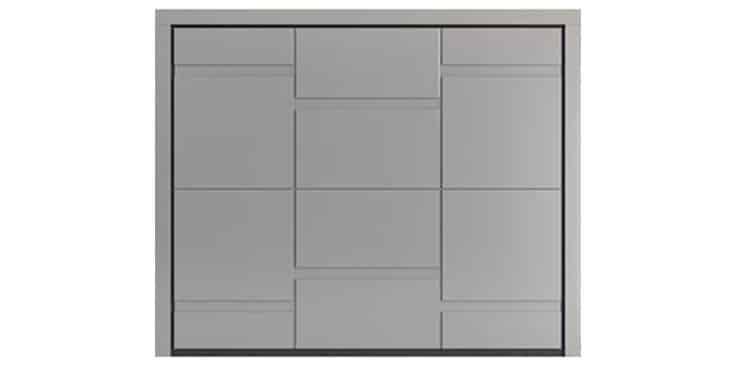 SLOT Design in Laquered Okoumé RAL 7044 Silk Grey