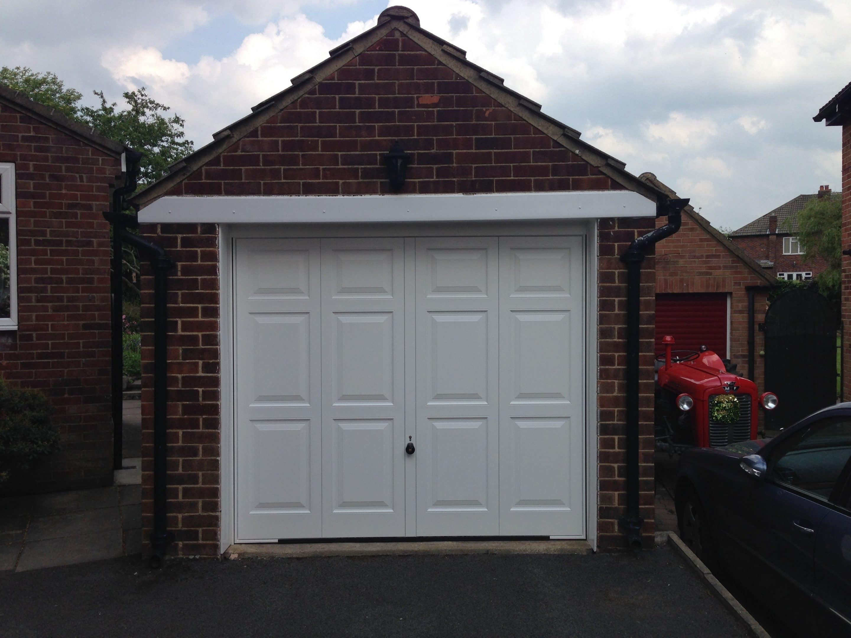 Hormann Georgian style up and over door with 4 point locking fitted in Leeds