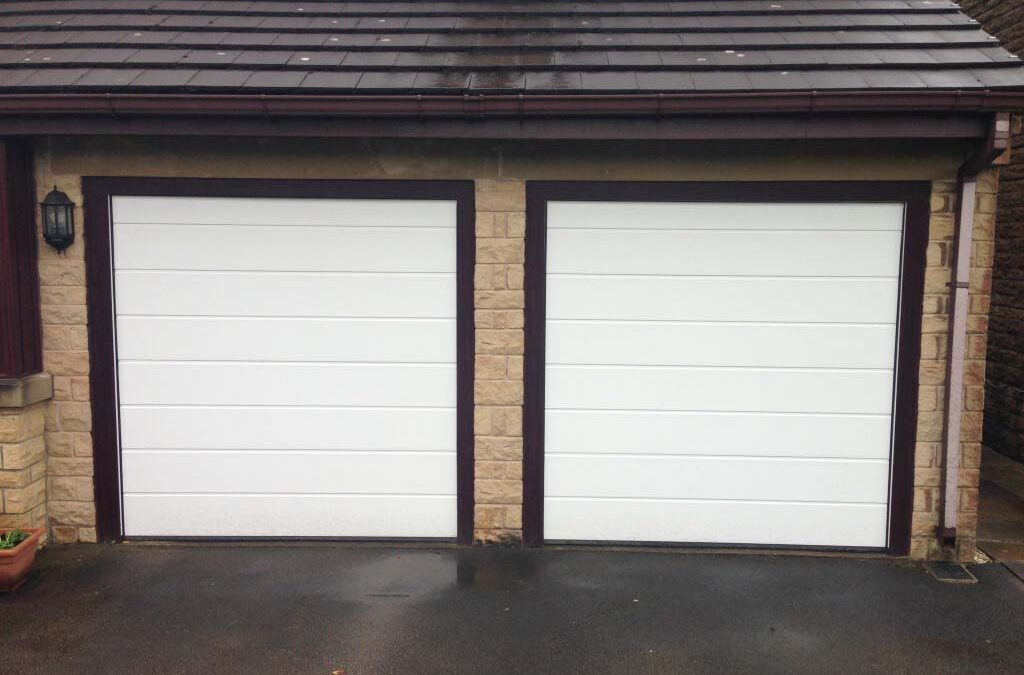 Hormann LPU40 M Ribbed design sectional garage door installed in Leeds