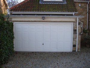 Hormann Georgian Double Up and Over in White By ABi Garage Doors