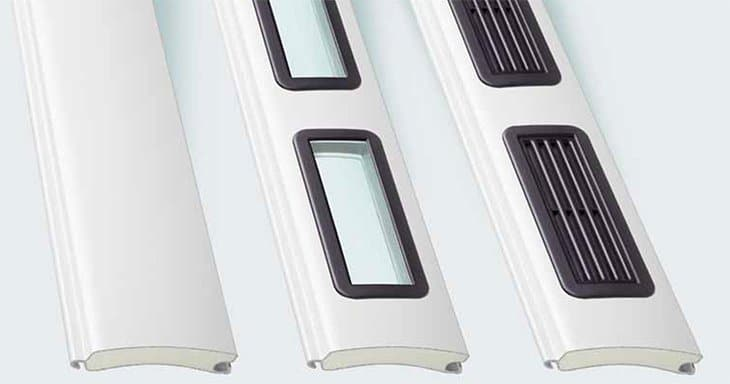 Three Different Design Appearances for a Hormann RollMatic Garage Door