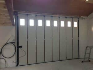 Hormann Vertical Side Sliding Garage Door Interior By ABi Garage Doors