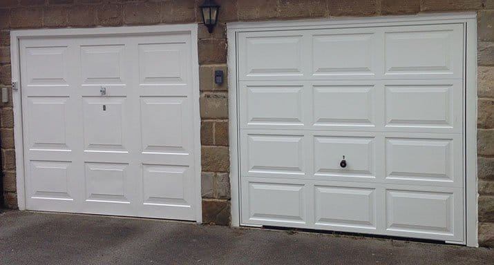 Hörmann fully automatic Countess design retractable Plus door installed in Harrogate.