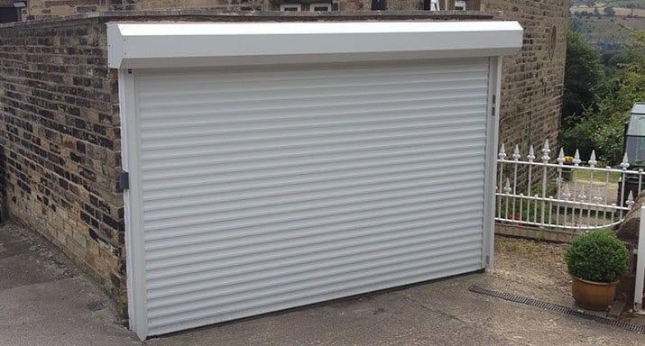 An external installation in Bradford – Hörmann RollMatic made to measure aluminium insulated roller door