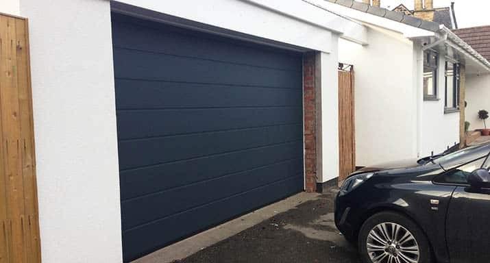 After Hörmann M-rib sectional garage door