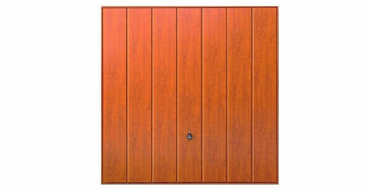 Hormann Steel Series 2601 Elegance Decograin Golden Oak Up and Over Garage Doors