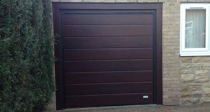 ABi Garage Doors Wakefield install an Overlap trackless sectional garage door