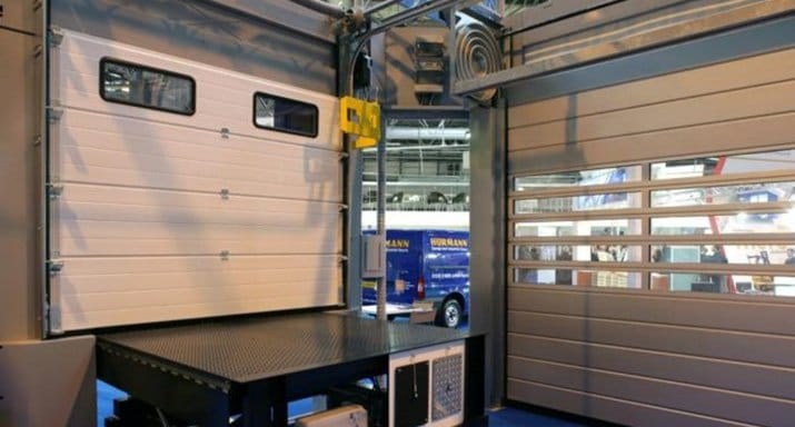 Checking out the latest Hörmann Garage Doors at the IMHX show