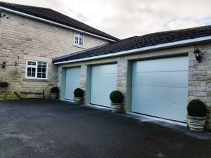 Hormann L Ribbed Sectional Doors in Pebble Grey By ABi